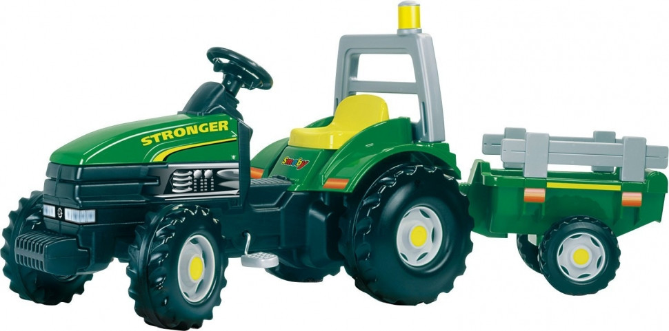 Педальный трактор с прицепом Smoby TGM Stronger