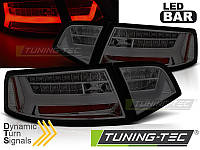 Фонари светодиодные AUDI A6 (LED BAR) Sedan тонированные