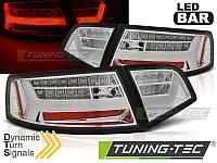 Фонари светодиодные AUDI A6 (LED BAR) Sedan хромированные