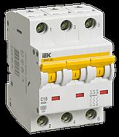 Автоматический выключатель ВА 47-60 3Р 6А 6 кА х-ка C