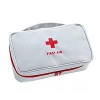 Аптечка органайзер домашняя First Aid Pouch Large, красная и серая
