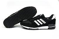 Кроссовки мужские Adidas ZX500, черные (11534), р. 41 42 43 44 45 46