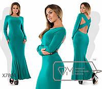 Вечернее платье XL с вырезом на спине tez7801