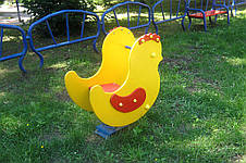"""Детская качалка на пружине """"Цыпленок"""", фото 2"""