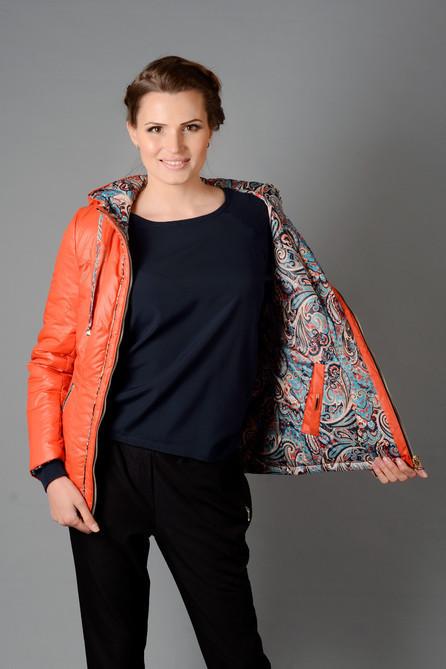 Женская молодежная двухсторонняя куртка М-3018, 42,44р