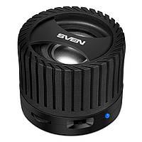 Колонка портативная 2.0 Sven PS-40BL Black, 3 Вт, пластиковый корпус, Bluetooth, MicroSD/USB ридер, питание от аккумулятора