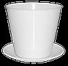Кашпо для цветов с подставкой D=100 мм 0,6л
