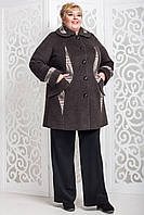 Женское демисезонное пальто больших размеров  В-587