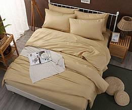 Элитное постельное белье сатин однотонный SOFT SALMON (PERSIK), №169 (Полуторный)