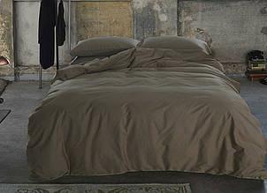 Элитное постельное белье сатин однотонный CACAO, №221 (Полуторный)
