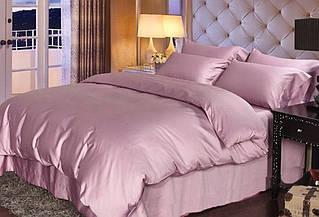 Элитное постельное белье сатин однотонный ORCHID, №005 (Полуторный)