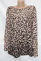 """Кофта женская полубатальная с принтом, размеры 50-56 Серии """"ITALIA"""" купить оптом в Одессе на 7 км"""