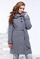 Женское демисезонное пальто с капюшоном Ада
