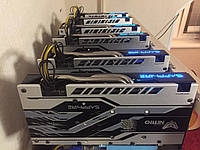 Майнинг Ферма Top Gear 6 карт Sapphire Radeon RX 570 8GD5 NITRO+
