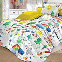 Ткань для детского постельного белья, поплин Радуга