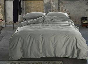 Элитное постельное белье сатин однотонный LIGHT GREY, №251 (Полуторный)