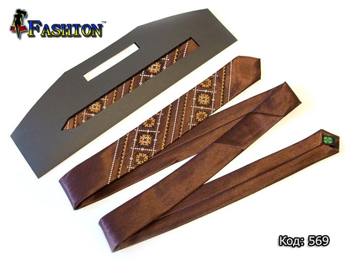 Краватка вузька з вишивкою Каспар