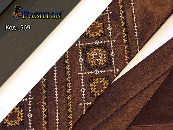 Краватка вузька з вишивкою Каспар, фото 2