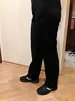 Брюки  Adidas трикотажные чёрные прямые весна-лето