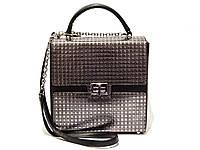 Женская моднейшая корпусная сумка-квадрат, сумка-коробка, итальянская кожа, модель 2018.