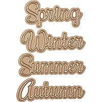Набор ножей для вырубки Spellbinders - Four Seasons-Seasonal Words