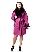 Женское зимнее пальто с натуральным мехом П-819 (н/м) Diana Soft