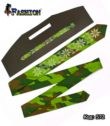 Камуфляжна краватка з вишивкою Родіон, фото 2