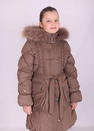 Пальто зимнее для девочки (KIKO), наполнитель-пух, фото 2
