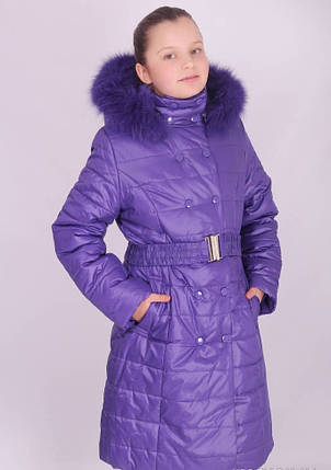 Пальто зимнее для девочки (KIKO)-2172, фото 2