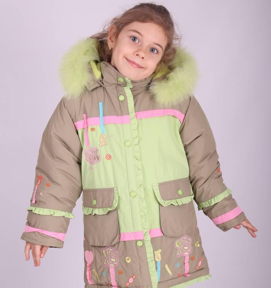 Пальто зимнее для девочки Diwa Club
