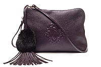 Модная лаконичная женская сумочка, итальянская кожа, день/вечер.