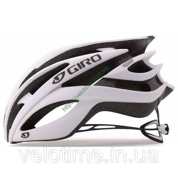 Шолом вел. Giro Atmos II  (55-59 см, матовый белый-черный)