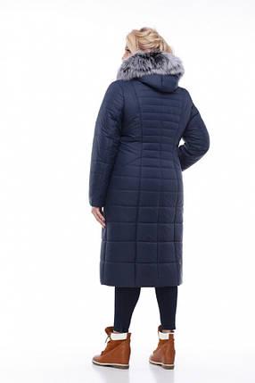 2b63e7934244 Женское зимнее пальто Софи-2,т.синий,мех песец , фото 2