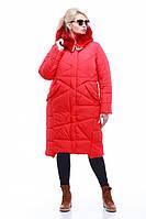 """Женское зимнее стильное пальто """"Дакота"""",енот крашенный"""