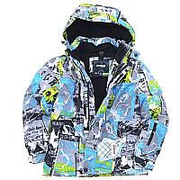 "Зимняя термокуртка ""Комикс"" на мальчика SNOWEST,China"