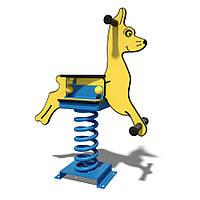 Детская пластиковая качалка на пружине Собачка InterAtletika