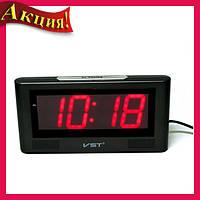 Настольные электронные  часы VST-732-1 Красная подсветка!Акция