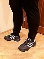 Брюки  Adidas трикотажные чёрные манжет весна-лето
