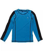 Спортивный детский реглан PLAYTECH для мальчика 7-8 лет, футболка с длинным рукавом р. 122-128 ТМ Name it Синий 13115345