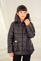 """Весенняя куртка для девочки """"Модница"""" шоколад"""