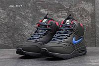 Мужские зимние кроссовки Nike Air Max 87 темно синие 3307