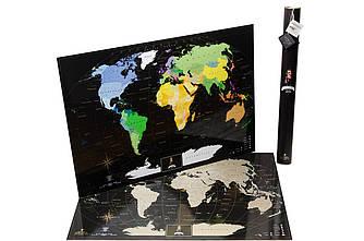 Скретч карта мира черный выпуск Англ Map Black Edition