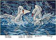 Схема на ткани под вышивку бисером Танец лебедей