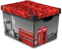 Декоративная коробка с крышкой Лондон STOCKHOLM L Curver 213237