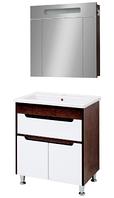 Мини-комплект мебели для ванной комнаты Браун 70 Юввис