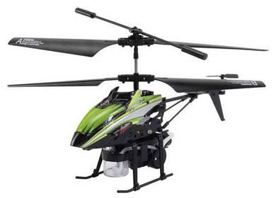 Вертолёт 3-к микро и/к BUBBLE мыльные пузыри (зелёный)