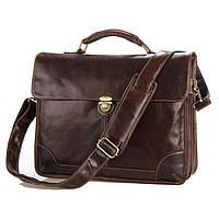 Кожаный портфель TIDING BAG 7091C