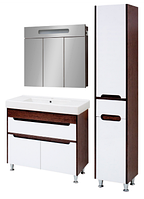 Комплект мебели для ванной комнаты Браун 90 Юввис