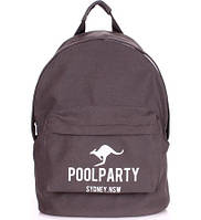 Рюкзак Poolparty backpack-kangaroo-grey
