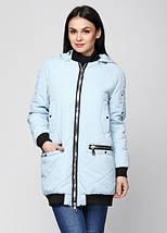 Женская куртка из матовой плащевки 44-50р голубая, фото 2